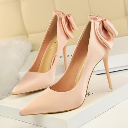 Wedding Shoes Bride Pink Heels Shoe..