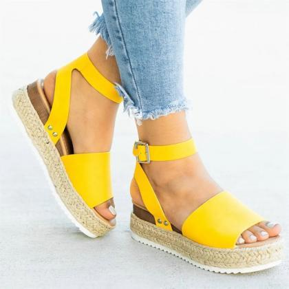 Women Sandals Plus Size Wedges Shoe..