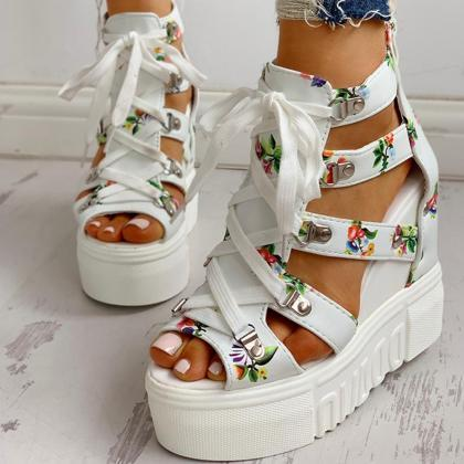 INS Hot Print Leisure Wedges women'..