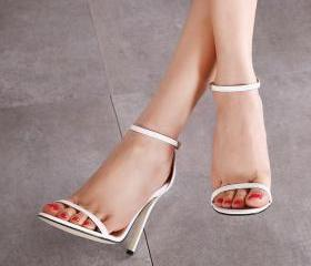 Open-Toe Ankle Strap..