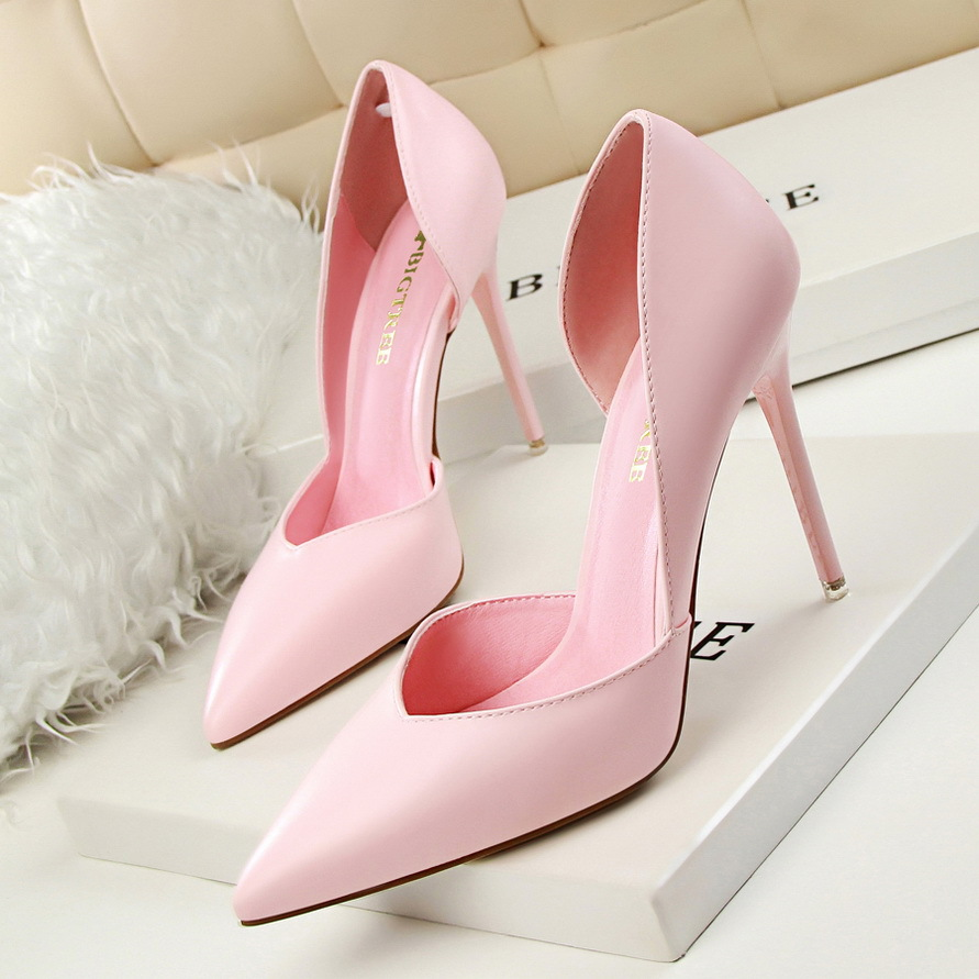 New Shoes Woman Sweet Women Party Wedding Shallow Ladies Shoes Thin High Heels Woman Pumps
