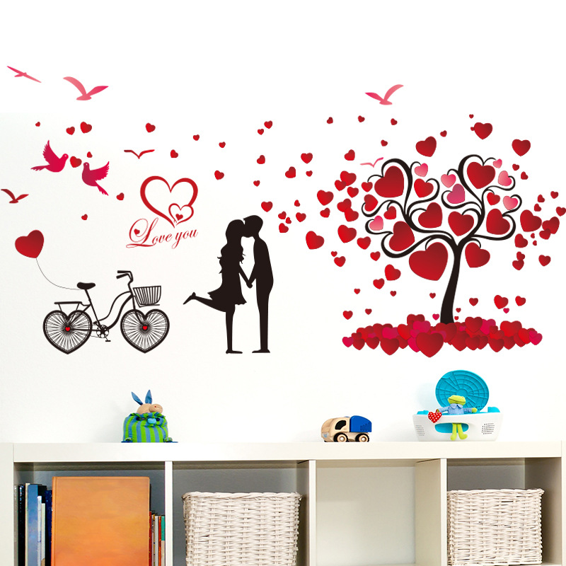 Amazon Ebay Hot Selling 2016 New Arrival Removable Sofa TV Bedroom  Background Wall Decoration Sweet Romantic Love Tree Decorative Wall  Stickers Mural PVC ...