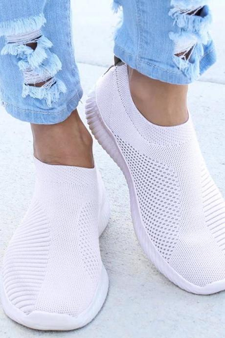 Women Sneakers Fashion Socks Shoes Casual White Sneakers Summer knitted Vulcanized Shoes Women Trainers Tenis Feminino