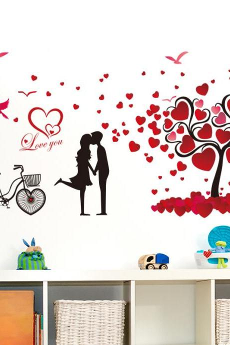 Amazon Ebay hot selling 2016 New Arrival Removable Sofa TV bedroom background wall decoration Sweet romantic love tree decorative wall stickers Mural PVC Home Decor Creative Bedroom TV background wall decoration stickers Pegatinas de pared decoración de hogar XL8151