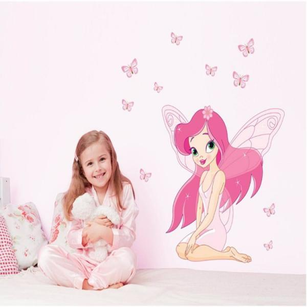 JM8257 Drop Shipping 2015 New Creative Removable Children's Bedroom romantic pink girl decorative wall stickers Mural PVC Home Decor Wall Stickeres Creative Bedroom Sofa TV background wall stickers wall decoration stickers creative wallpaper Stickeres Decoración Del Hogar PVC wall stickers